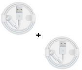 Picture of Pack Of 2 Apple iPhone 5/6/7/8/8+/X/XS  XS Fast USB Lightning Cable