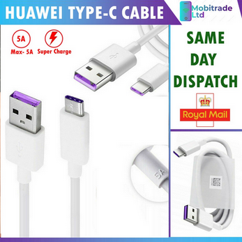 Picture of Genuine Official Huawei 5A SuperFast Charging Mains Charger Cable Data Sync Lead