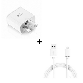 Picture of Genuine Samsung Galaxy Note 3 Fast Charger Plug & 1M Micro USB Data Cable