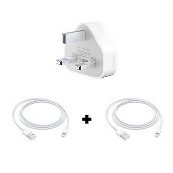 Picture of Apple iPhone 11 Power Charging Adapter and 2 USB Lightning Cables