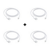 Picture of Pack Of 4 Genuine Apple iPhone 11 Fast USB Lightning Cable