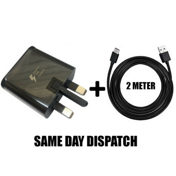 Picture of Genuine Samsung Fast Charger Plug& 2M USB Type-C Data Cable For Galaxy Phone Lot