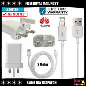 Picture of Genuine Huawei 2A Fast Mains Charger Plug & 2M USB Cable For Y3 Y5 Y6 Y7 Y9 Pro