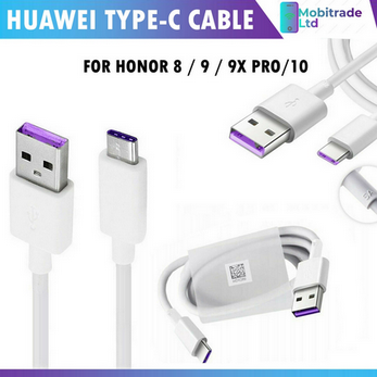 Picture of Genuine Huawei Super Charge Fast Mains Charger Plug USB-C Cable For Honor 8 9 10