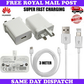 Picture of Genuine Huawei Super Fast Charger Plug & 3M USB-C Cable For Media Pad M5 Pro