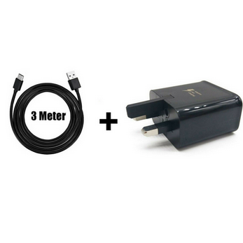 Picture of Genuine Samsung Fast Mains Charger Plug& 2m Micro USB Cable For Galaxy Phones Lot