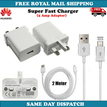 Picture of Genuine 2A Fast Charging Plug & 3M Long USB Type-C Cable For Huawei Honor Phones Lot