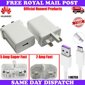 Picture of Genuine Huawei Super Fast 5A / 2A Charger & 5A USB Type-C Data Cable For Phones