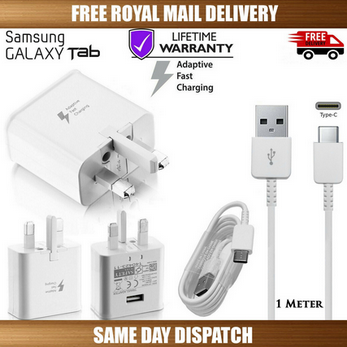 "Picture of Genuine Samsung Fast Charger Plug &1M USB Cable For Galaxy ""A"" Series"
