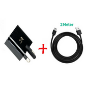 """Picture of Genuine Samsung Fast Mains Charger Plug & Data Cable For Galaxy """"S"""" Phones Lot"""