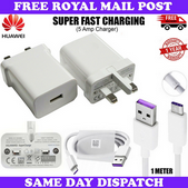 Picture of Genuine Huawei 2A Fast Mains Charger Plug & 3M USB Data Cable For All Phones LOT
