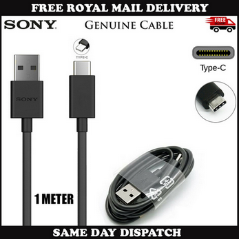 Picture of Genuine Sony Fast USB Type-C Data Charger Cable For Xperia XZ Premium XZs L1 L2