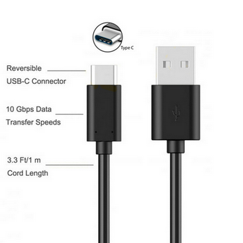 Picture of New Sony Experia  XA1 XA2 XZ TYPE C USB-C Data Sync Charger Charging Cable