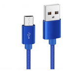 Picture of Micro USB Cable Blue Color for Samsung and other Phones