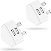 Picture of Pack of 2 Dual Port 3 Pin Power Charging Adapter for Samsung all Models