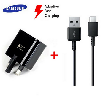 Picture of Genuine Samsung Fast Charger Plug & 2M USB-C Cable For Galaxy A3 A5 A7 2017 Lot