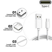 Picture of Genuine Samsung USB Type-C Fast Data Charger Cable For Galaxy A21 A21s A31 A41