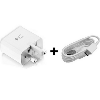 Picture of Genuine Samsung Fast UK Charger Plug &USB-C Lead For Galaxy A40 A50 A50s A60 Lot