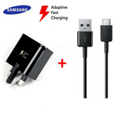 Picture of Genuine Samsung Fast Charger Plug & 3M USB-C Cable For Galaxy S10 S10e S10+ Plus