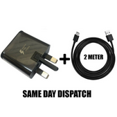 Picture of Genuine Samsung Fast Charger Plug & 2M USB-C Cable For Galaxy A70 A80 2019 Lot