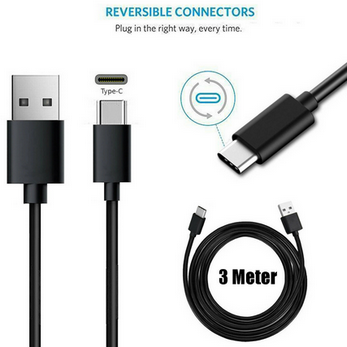 Picture of Genuine Samsung Fast Charger Plug & 2M USB-C Cable For Galaxy A20 A20e A30 Lot