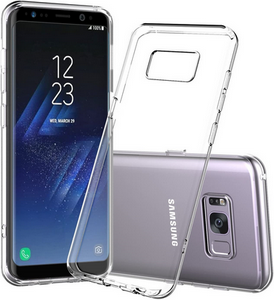 Picture of Samsung Galaxy S8 Clear Back Case Cover Skin with Screen Protector