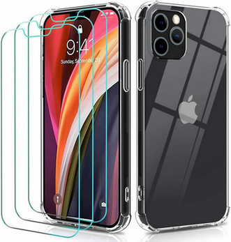 Picture of Clear Case For iPhone 12 11 Pro MAX Mini 7 8 Plus  with Glass Screen Protector