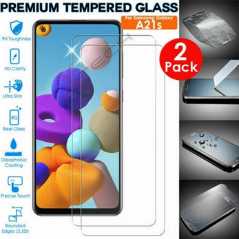 Picture of Genuine TEMPERED GLASS Screen Protector for Samsung Galaxy A21s (Pack of 2)