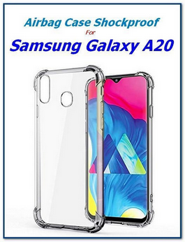 Picture of Full Shockproof Transparent Back Case Cover For Samsung Galaxy A20