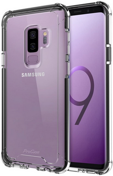 Picture of Full Transparent Back Case & Tempered Glass Screen Protector For Samsung Galaxy S9